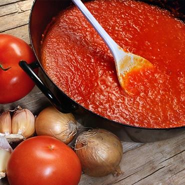 Tomatensaus bij Altanatura